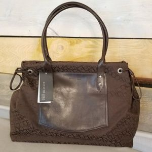 Kenneth Cole Brown Tote Purse Bag